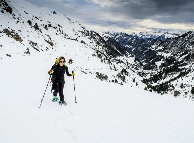 Excursiones con raquetas de nieve en Aínsa Ordesa