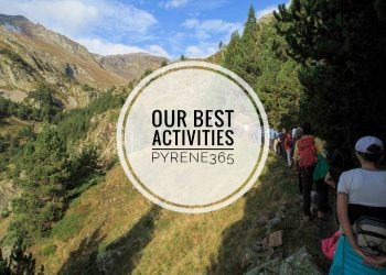 Hiking trekking walking canyoning at the Spanish Pyrenees Ainsa Lost Mountain Ordesa